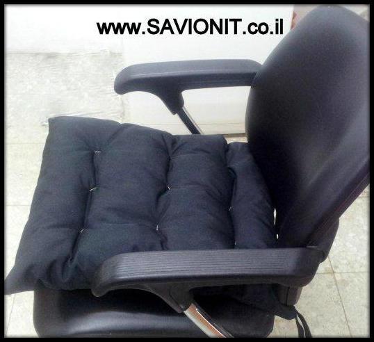 כריות ישיבה - עם קפיטונז' מבט צד בצבע שחור