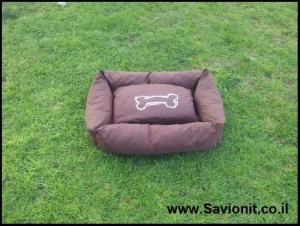 מיטה לכלב - מלבנית חומה
