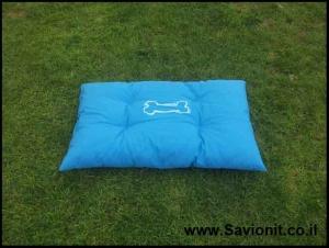 מיטה לכלב - קפיטונז' כחול