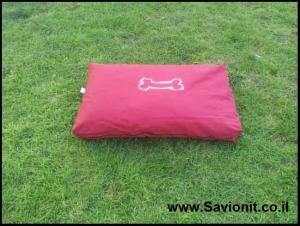 מיטה לכלב - מזרן מלבני אדום