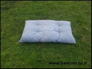 מיטה לכלב - קפיטונז' אפור