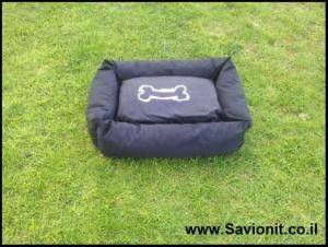 מיטה לכלב - מלבנית שחורה