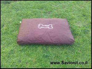 מיטה לכלב - מזרן מלבני חום