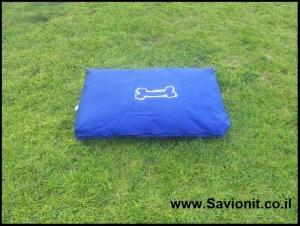 מיטה לכלב - מזרן מלבני כחול